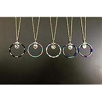 Medallón, collar de perlas con perlas de Miyuki, collar de oro, joya dorada, collar de oro, regalos de joyería, regalo para mujer, joya de luna, collar de apio.