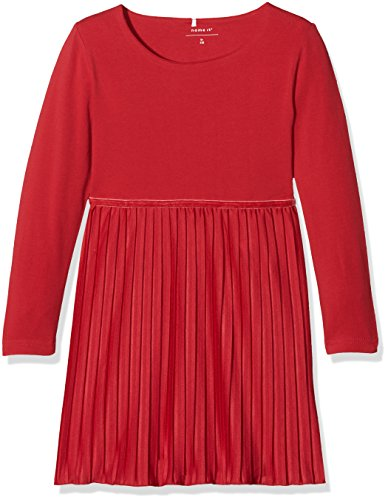 id Nitficarla LS Dress F Mini, Rot (Jester Red), 116 (Tunika Jester)