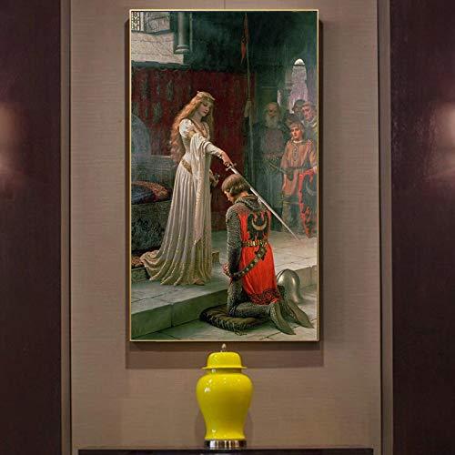 mmwin England Berühmten Maler Edmund Blair Leighton Auszeichnung Poster Druck auf Leinwand...