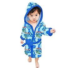 The Smurfs Kids Bathrobe - Blue , 3-4 Years