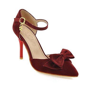 LvYuan Da donna-Sandali-Formale Casual Serata e festa-Altro-A stiletto-Felpato-Nero Rosso Beige beige