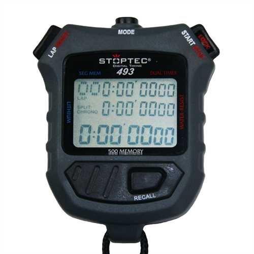 Stoptec Schütt Stoppuhren 493 (500 File Memory/Dual Timer)