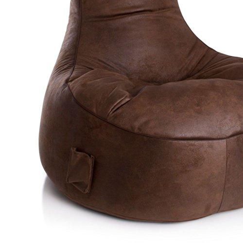 Sitzsessel Sitzsack braun Vilo 1 Pharao24 - 2