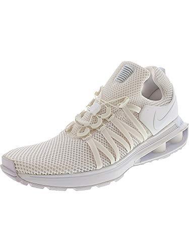 Nike Men's Shox Gravity White/White/White Nylon Running Shoes 10 (D) M US