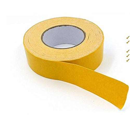Resistente nastro biadesivo gripper–tappeto tape, anti-skid nastro adesivo per area tappeti, pavimenti in parquet, piastrelle, interni ed esterni, lati, 5,1cm x 49-feet