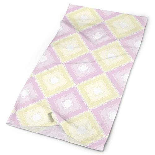 Voxpkrs Candy Color Plaid Yellow Pink Headwear Bandanas Seamless Headscarf Outdoor Sport Headdress Running Riding Skiing Hiking Stirnbands - Wolle-liner Mäntel Mit