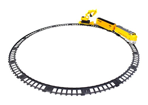 Little Treasures Construction Locomotive Train Set with Track, Get on Board, Lets Travel Down The Sleek Looking Track To Repair All The Line Damages