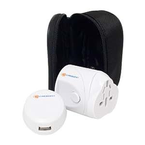 Decrescent Universel Adaptateur d'alimentation de Voyage (World Wide) avec port USB pour Amérique, Japon, Chine, Royaume-Uni, Irlande, Europe, Corée, Australie et Hong-Kong (plus de 150 pays)