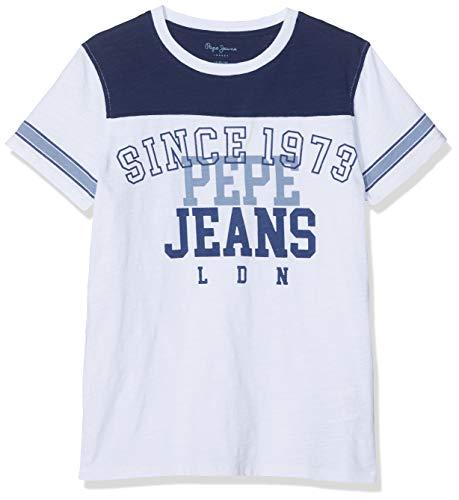 Pepe Jeans Jungen Clain Pb502485 T-Shirt, Elfenbein (Natural 816), 14-15 (Herstellergröße: 164/14 Jahre)
