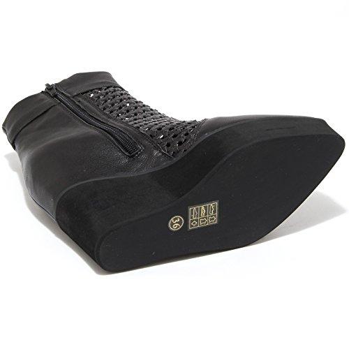 6687H tronchetti donna JEFFREY CAMPBELL divide zeppe scarpe ankle boots women Nero