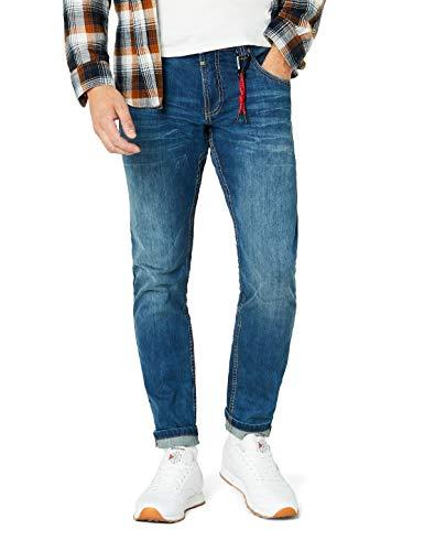 Timezone Herren Scott Slim Jeans, Blau (Classic Blue Wash 3061), W36/L32 -