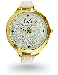 Style Feathers Fancy Flower Analogue White Dial Womens & Girls Watch-Sf-Flower-White-50