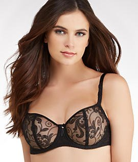 Fantasie Allegra Plunge Bra Vertical Seam in Black, Butterscotch or White (9091) Black