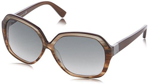 Hogan - occhiali da sole ho0044 wayfarer, 86b striped opal / blue