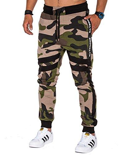 Air Jordan 3 Cool Grey (BetterStylz NedonoBZ Camo Jogginghose Trainingshose Sportswear Jogger Hose Sweatpant Tarnmuster Camouflage)