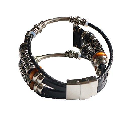MObast Leder Armband Uhrenarmbänder Zwei Schleife für Apple Watch Series 4 40mm/44mm