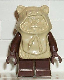 LEGO Star Wars: Ewok Paploo (beige Haube) (Lego Minifiguren Ewok)