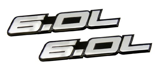 2-x-pair-set-60l-liter-in-silver-on-black-highly-polished-aluminum-car-truck-engine-swap-nameplate-b