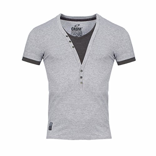 CRSM by Carisma Herren T-Shirt T202 Designer 2in1 Look Shortsleeve Streetwear -