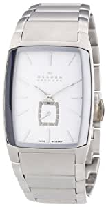 Skagen Stainless Steel Black Label Men's Quartz Watch with White Dial Analogue Display and Silver Stainless Steel Bracelet 984XLSXS