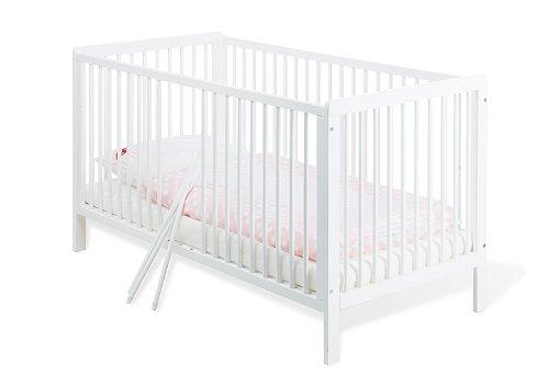 Pinolino - 11 14 75 - Kinderbett Lenny 140 x 70 cm - mit 3 Schlupfsprossen aus vollmassiver Kiefer, weiß lackiert (Weichen Trockenen, Fensterleder)