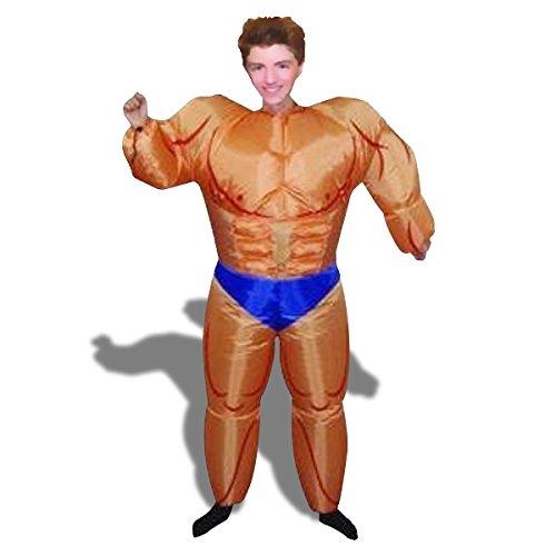 Kostüm Aufblasbares Bodybuilder muskulösen Mann (Aufblasbare Bodybuilder Kostüme)