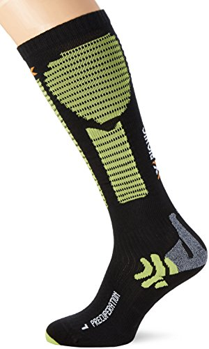 X-Socks Erwachsene Funktionssocken Precuperation, Black/Acid Green, 43/46 L, X020431