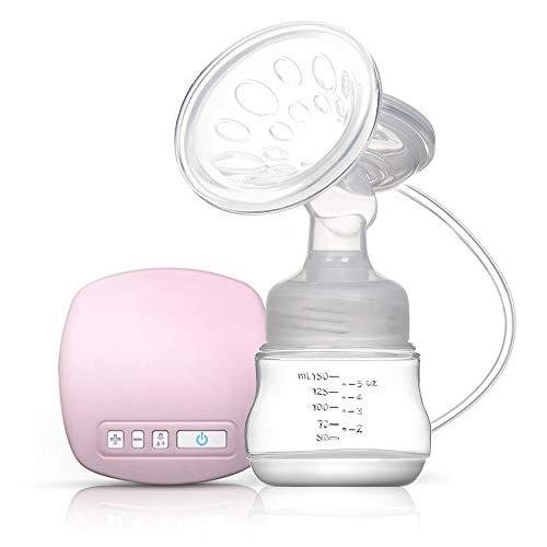 Decdeal - Tiralatte Elettrico Ricaricabile con Cuscino Massaggiatore per l'allattamento al Seno, Senza BPA, Rosa