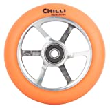 Chilli spoked 110mm 88A Wheel + Abec 9 Lager Stund Scooter Roller Rolle Spoked / Pu Orange