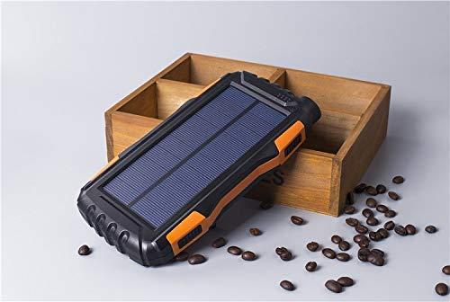 Eignet High Capacity 25000mAh Solar Power Bank for Trekking, Climbing, Tour, Journey, Trips (Orange) Image 6