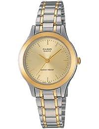 Casio LTP1128G-9A LTP-1128G-9ARDF - Reloj para mujeres, correa de acero inoxidable multicolor