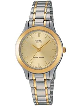 Casio Damen-Armbanduhr XS Analog Quarz Edelstahl LTP-1128G-9ARDF