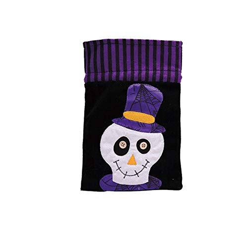 Dekorationen Vliesstoff Kreative Tote Tasche Kinderurlaub Kürbis Geschenktasche Party-Performance Dress Up,Skull (Candy Skull Dress Up)