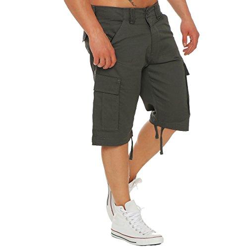 Finchman Cargo Trouser Short F1002 Herren Bermuda Kurze Hose Freizeit Shorts Dunkelgrau