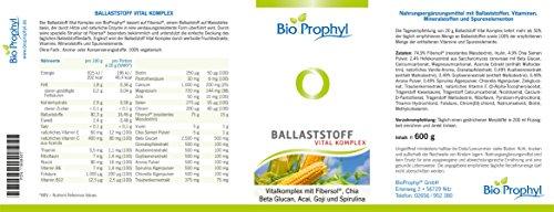 BioProphyl® Ballaststoff Vital Komplex – Ballaststoffe mit Fibersol-2®, Beta Glucan Chia Samen & Co, Vitamin B-Komplex, Mineralstoffe und Spurenelemente, Zink und Vitamin C,