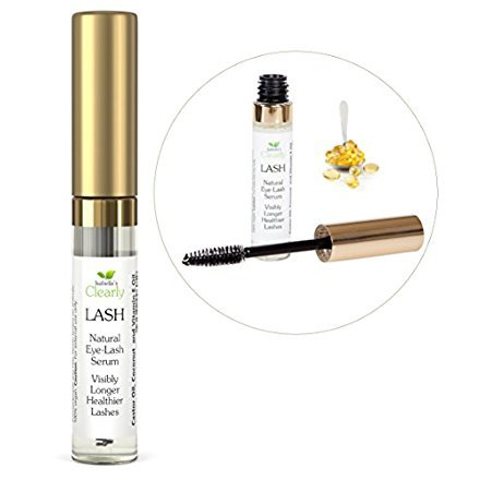 Clearly LASH - Best Eyelash, Eyebrow Growth Serum. Longer, Fuller, Enhanced Lashes, Conditioner, Adds Volume with Castor, Coconut, Vitamin E Oil (10ml)
