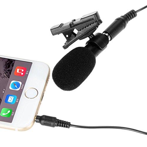 [Mikrofon] ohuhu® On/Lavaliermikrofon Omnidirektionales Mikrofon Aufnahme/Kondensatormikrofon für iPhone, iPad, iPod Touch, Samsung und anderen Android Windows Smartphones (Ipod-basis)