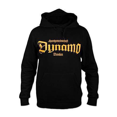 SG Dynamo Dresden Kapuzensweater Old School schwarz, Größe:L
