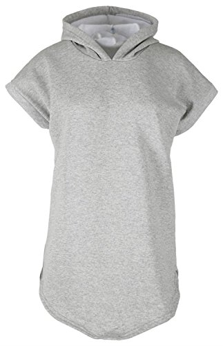 Chocolate Pickle ® Neue Frauen Vlies mit Kapuze Sweatshirts 36-42 Grey