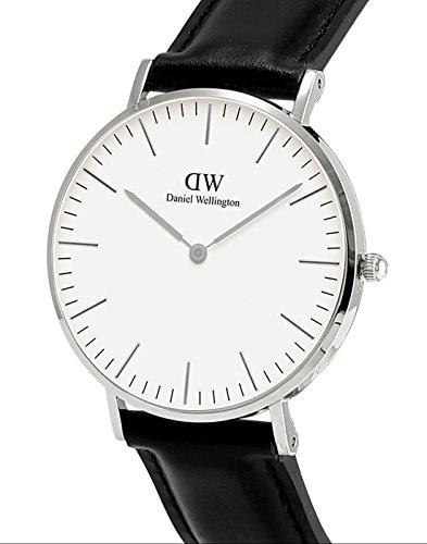 4b649fef4 Daniel Wellington - Reloj analógico para mujer, correa de cuero, color negro