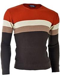 D&R Fashion Hommes Sweatshirt chandail épais tricot vêtements chauds slim coloré