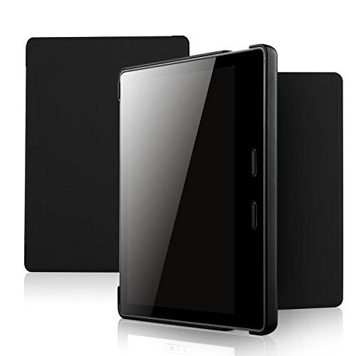 ELTD Hülle für Der Neue Kindle Oasis,Ultra Lightweight Flip mit Eingebautem Magnet Hochwertiges PU Leder Schutzhülle für Der Neue Kindle Oasis (10. Generation - 2019) [Coal] -