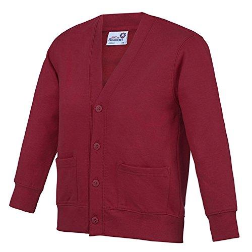 AWDis Damen Modern Strickjacke Academy Claret 39 (Shirt Argyle-front)