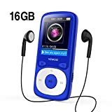 WIWOO MP3 Player, 16GB Digital Audio Music Player with Radio/Voice Recording, Come