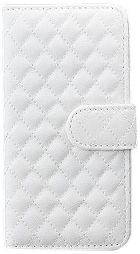 iCues HTC One M7 |  Stepp Klapp Tasche Weiss | [Display Schutzfolie Inklusive] Leder - Imitat Book Klapphülle Schutz Etui Handytasche zum aufklappen Flip Case Schutzhülle Booklet Hülle Wallet