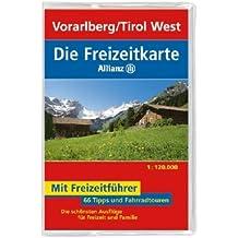 Die Allianz Freizeitkarte Vorarlberg - Tirol West 1:120 000