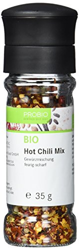 ProBio Hot Chili-Mix BIO, Gewürzmühle, 5er Pack (5 x 35 g)