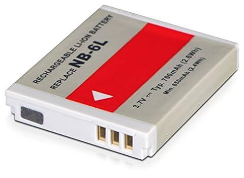 AVANTO Li-ion Akku mit 700mAh 3.7V 3.7Wh ersetzt Canon NB-6L kompatiebel mit Digital Ixus 85 IS, Ixus 95 IS, Ixus 105, Digital Ixus 200 IS, Ixus 210, Digital Ixus 210, Digital Ixus 300 HS, Digital Ixus 310 HS, Digital Ixus 85 IS, Digital Ixus 95 IS, Ixus 105, PowerShot D10, PowerShot D20, PowerShot S90, PowerShot S95, PowerShot SX240 HS, PowerShot SX260 HS, PowerShot SX500 IS, PowerShot SD770 IS, PowerShot SD980 IS, PowerShot SD1200 IS, PowerShot SD1300 IS, PowerShot SD3500 IS, PowerShot SD4000 IS, IXY DIGITAL 25 IS, IXY 30S, IXY 110 IS