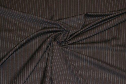 Anzugwolle S 120 schwarz-türkis - Stoff Meterware - 55 % Wolle - 43 % Polyester - 2 % Lycra - Grundton: schwarz (Schwarze Wolle Stoff Gabardine)