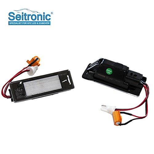 Hochwertige Premium LED Kennzeichenbeleuchtung, 2 Module passgenau für Ihr Fahrzeug, Tüv frei, sehr hell mit E-Prüfzeichen.